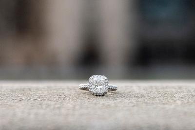 Engagement ring at Biltmore Estate in Asheville