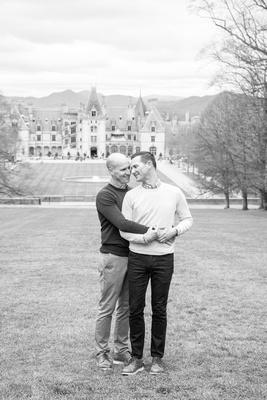 Biltmore Estate in Asheville NC engagement photos after proposal
