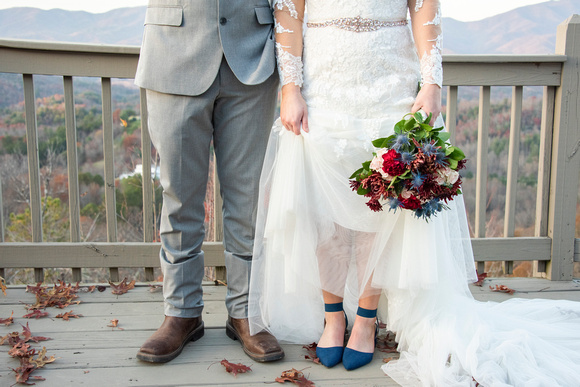 Bride and groom shoes at Hawkesdene wedding near Asheville