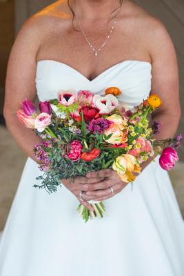 Bridal bouquet at Connestee Falls wedding