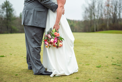 Bride and groom attire details at Connestee Falls wedding