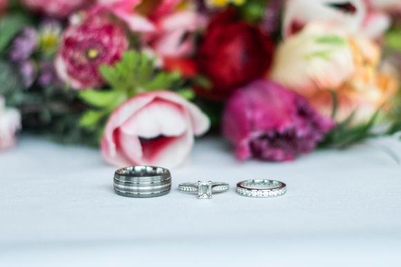 Rings at Connestee Falls wedding