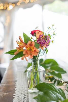 Simple table scape at Connestee Falls wedding