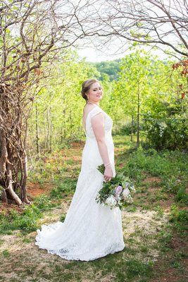 Bridal portrait at Something Blue Mountain Venue near Asheville