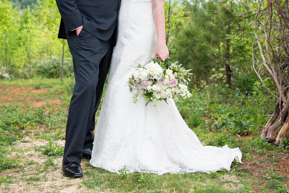 Bride and groom detail photo of attire at Something Blue Mountain Venue near Asheville NC