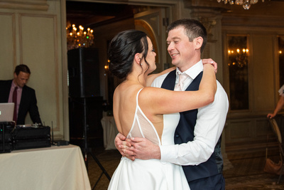 Couple during wedding first dance at the Grand Bohemian Hotel in Asheville NC