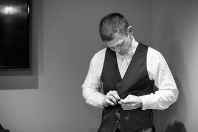 Groom getting ready at the Grand Bohemian Hotel in Asheville NC