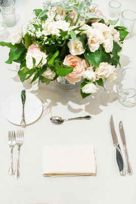 Place setting at wedding at the Grand Bohemian Hotel in Asheville NC