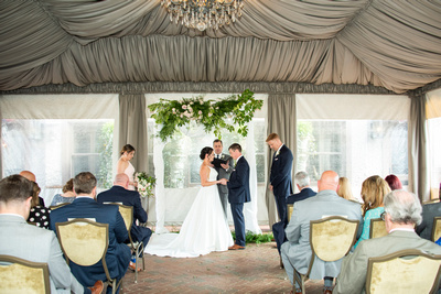 Wedding ceremony at the Grand Bohemian Hotel in Asheville NC