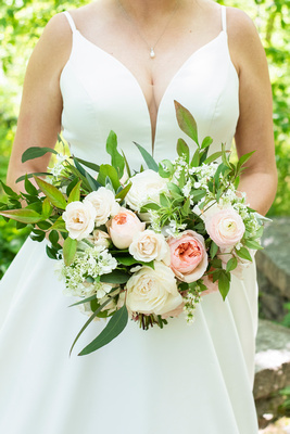 bridal bouquet by Flora at the Grand Bohemian Hotel in Asheville NC