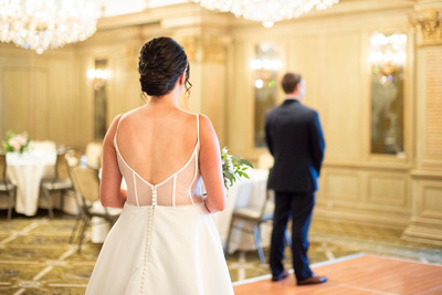 first look at wedding at the Grand Bohemian Hotel in Asheville NC