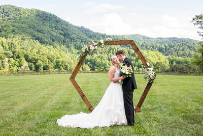 Wedding photos at Claxton Farm in Weaverville, near Asheville, NC
