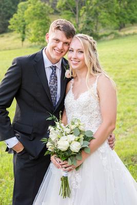 Wedding portrait at Claxton Farm in Weaverville, near Asheville, NC