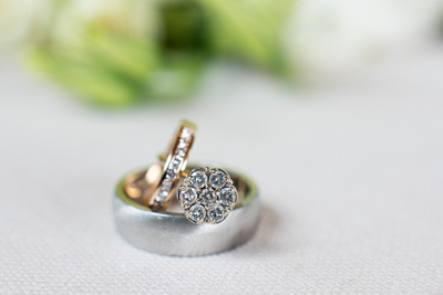 Wedding rings at Claxton Farm in Weaverville, NC
