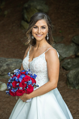 Bridal portrait at wedding at Omni Grove Park Inn Seely Pavilion