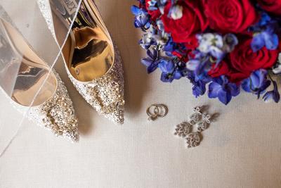 Bridal details at wedding at Omni Grove Park Inn