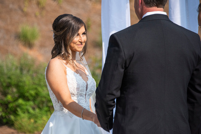 Bride during wedding at Omni Grove Park Inn