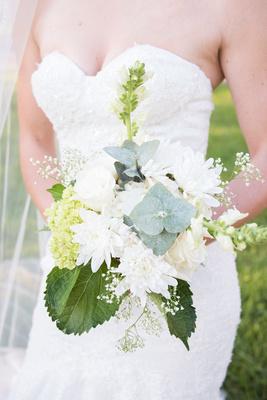 brides bouquet white flowers lake junaluska