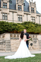 biltmore wedding photography brides dress and couple