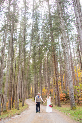 wedding photography in the fall at lake logan conference center