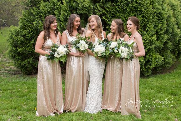 bridal party bridesmaids roan mountain state park wedding