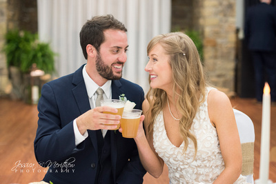 cheers alex and haley roan mountain state park wedding