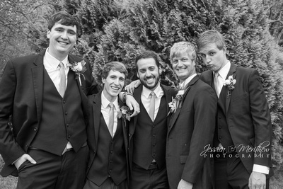 groomsmen relaxed black and white roan mountain state park tennesse