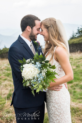 mountain top wedding photo roan mountain