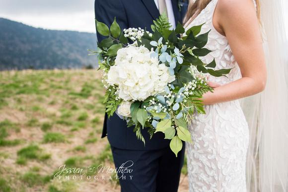 mountain top wedding photos round bald