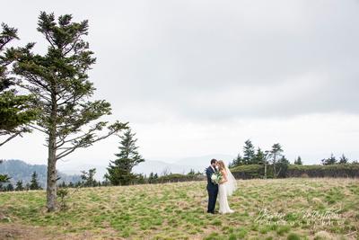 mountain top wedding round bald