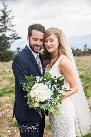 wedding couple on round bald in roan mountain tennessee