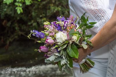 summer bridal flower bouquet