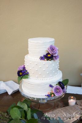 leap for cake wedding at bradley creek falls