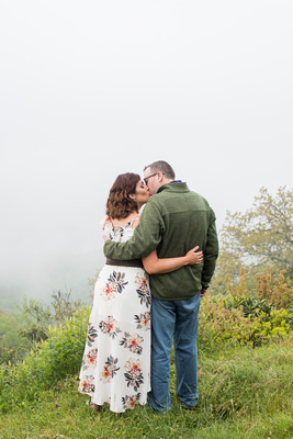 Funnel Top Overlook engagement photos on the Blue Ridge Parkway