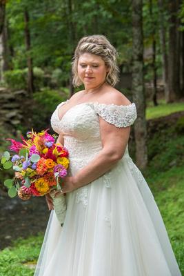 Bridal portrait at Hawkesdene wedding venue in Andrews NC near Asheville