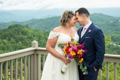 Wedding photo at Hawkesdene wedding venue in Andrews NC near Asheville