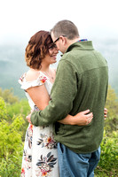 Asheville Engagement Photos Blue Ridge Parkway Foggy Morning
