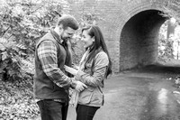 Biltmore Proposal Engagement Black and White near tunnel