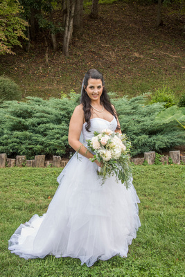 bridal portrait at timber hall events in asheville