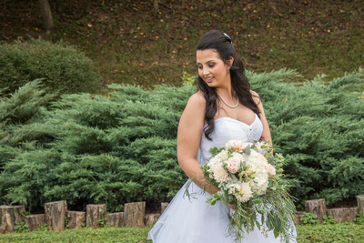 bridal portrait at timber hall events