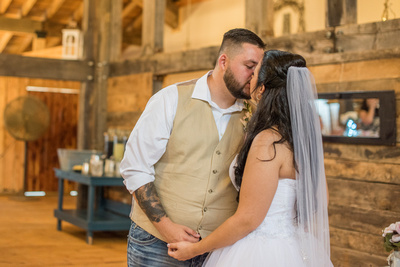 wedding couple at timber hall events in asheville
