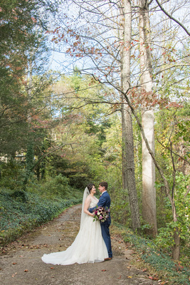 Bride and groom portrait at Bull Creek Ranch
