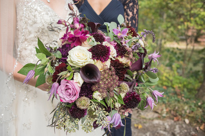 Browns floral design bridal bouquet in Asheville