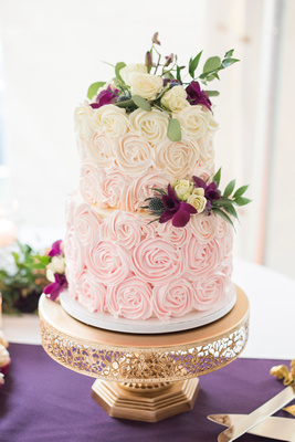 Ombre wedding cake by Perfectly Pretty Sweets