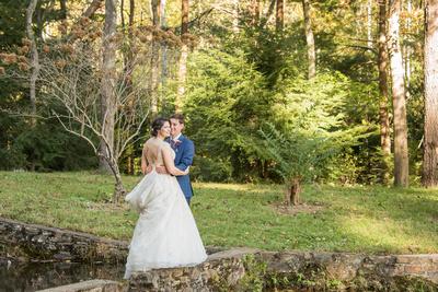 Photojournalistic wedding portrait in Asheville