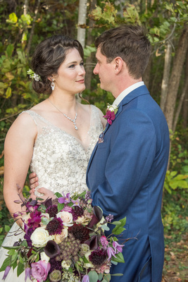 Wedding couple portrait in Asheville