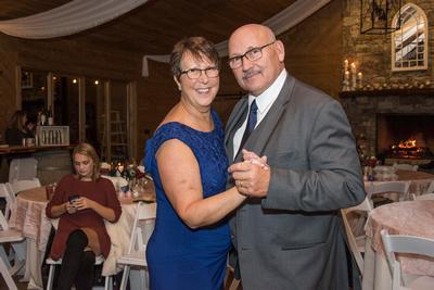 Parents dancing at wedding at Reflections at the Pond