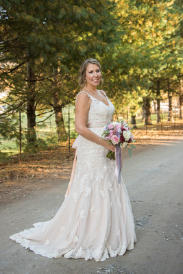 Reflections at the Pond bridal portrait