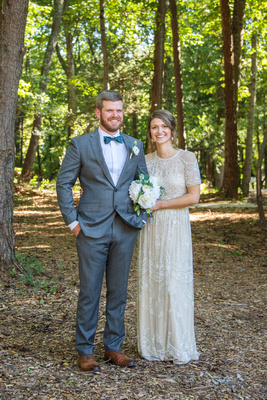 Bride and groom portrait at Highland Brewing Wedding in Asheville
