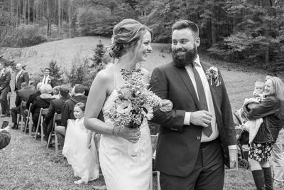 Bride and groom just married at Brahma Ridge
